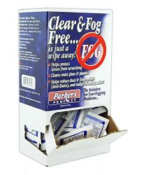 PARKER LAB PPFPBX Anti-Fog Foil Packet Dispenser, White (Pack of 100)