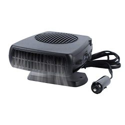 Haiabei Portable Car Heater Fan,Plug-in Anti-Fog 150W 12V Car Fan Windshield Defroster Automobile Heater Warmer Vehicle Demister Fast 2 in 1 Heating Cooling Dryer Auto 360-degree Rotation Heater Fan