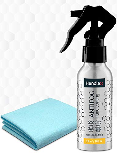 Hendlex Anti Fog Spray for Goggles, Car Windshield Treatment and Bathroom Mirror Multi Purpose and Long Lasting 3.38