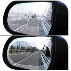 Car Rearview Mirror Film,Car Anti Water Mist Film, HD Anti-Fog Nano Coating Rainproof Film. Anti-Glare,Anti-Scratch Screen Protector for Rear View Mirror (100 mm X 145mm)