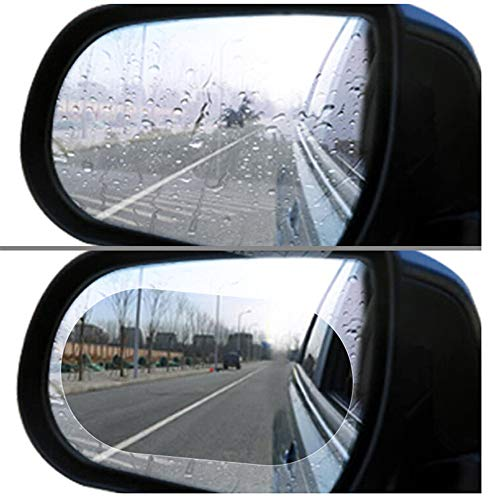 Car Rearview Mirror Film,Car Anti Water Mist Film, HD Anti-Fog Nano Coating Rainproof Film. Anti-Glare,Anti-Scratch Screen Protector for Rear View Mirror (100 mm X 145mm)
