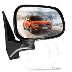 Freenavi Car Rearview Mirror Waterproof Film, Anti Fog Film Anti-Glare Anti Mist Anti-Scratch Waterproof Rainproof Rear View Mirror Window Clear Protective Film-2Pcs