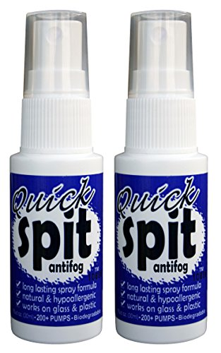 Jaws Quick Spit Antifog Spray (Pack of 2), 1-Ounce